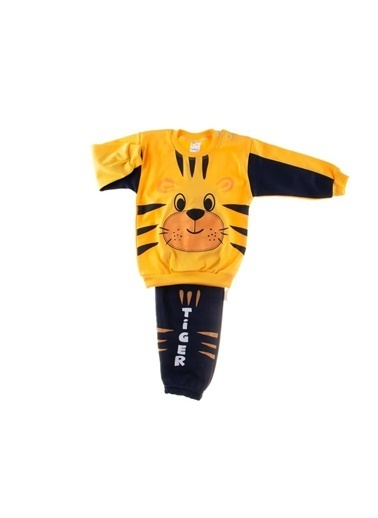 POKY Yeni Sezon Erkek Bebek Tiger Baskılı Kaplanlı Omuzdan Çıtçıtlı 2'Li Takım Renkli